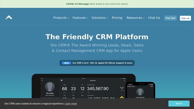 Gro-CRM API koppeling