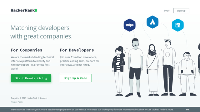 HackerRank API koppeling