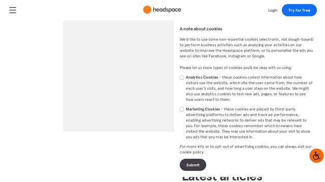 Headspace API koppeling