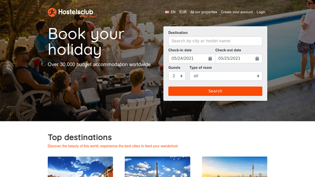 HostelsClub.com API koppeling