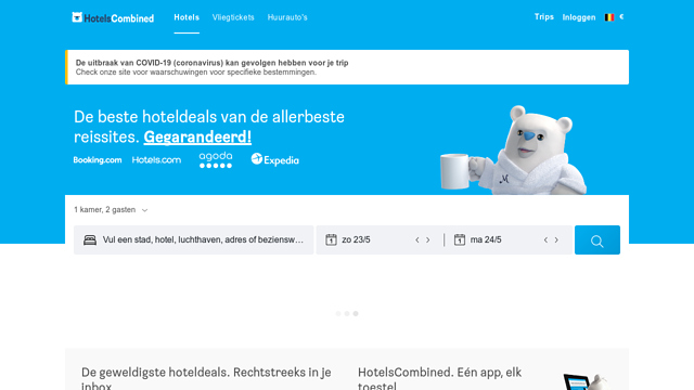 HotelsCombined API koppeling