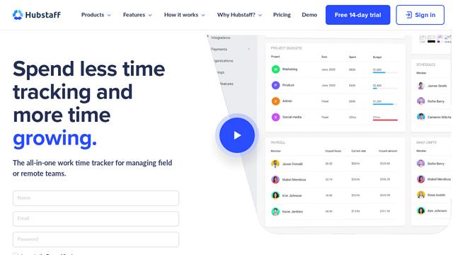 Hubstaff API koppeling