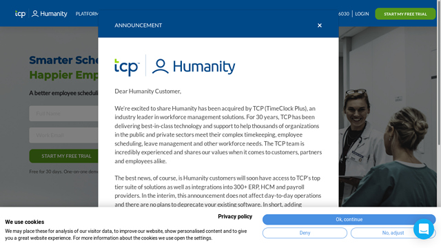Humanity API koppeling
