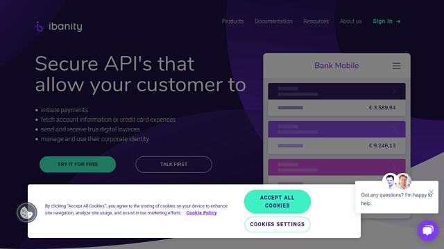 Ibanity API koppeling