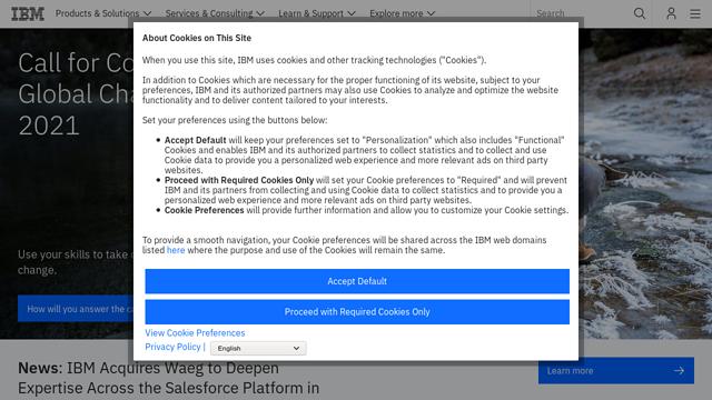 IBM API koppeling