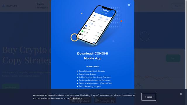 ICONOMI API koppeling