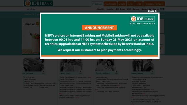 IDBI-Bank API koppeling