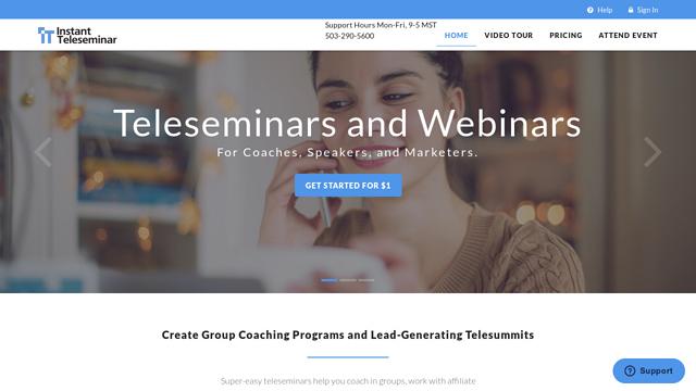 Instant-Teleseminar API koppeling