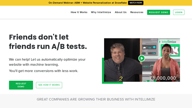 Intellimize API koppeling