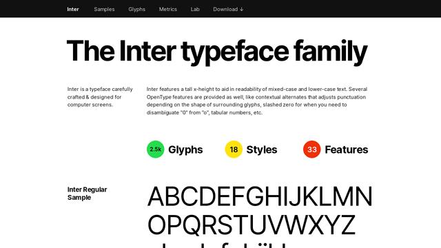 Inter-Typeface API koppeling