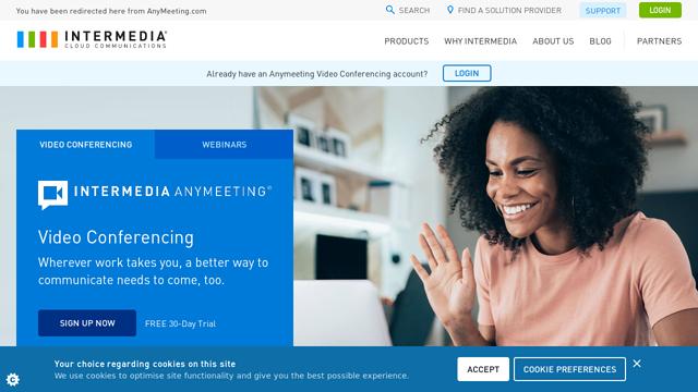 Intermedia-AnyMeeting API koppeling