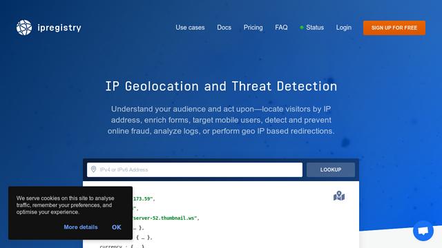 ipregistry API koppeling