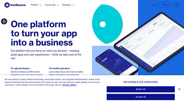 ironSource API koppeling