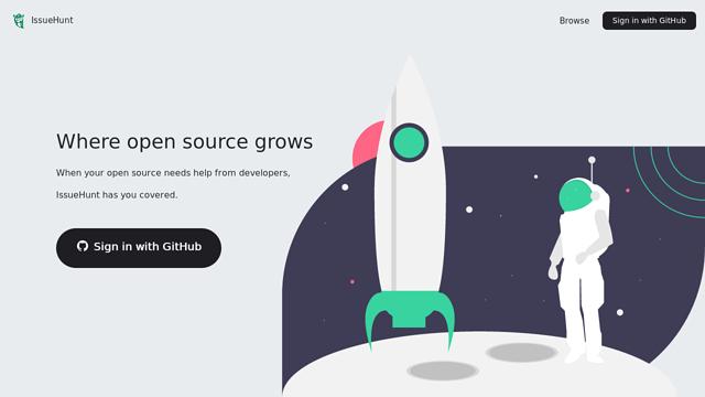 IssueHunt API koppeling