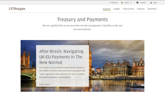 J.P.-Morgan-Treasury-Payments API koppeling