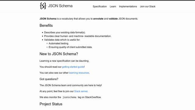 JSON-Schema API koppeling