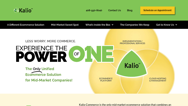 KalioCommerce API koppeling