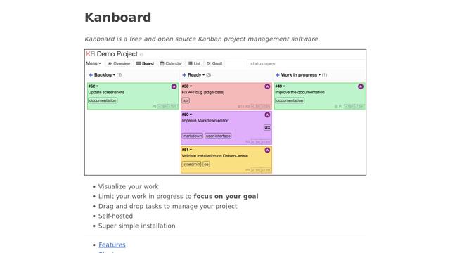 Kanboard API koppeling