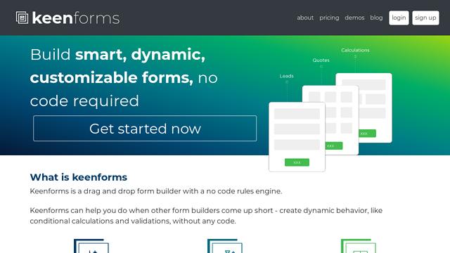 Keenforms API koppeling