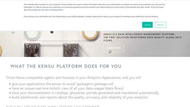 Kensu API koppeling