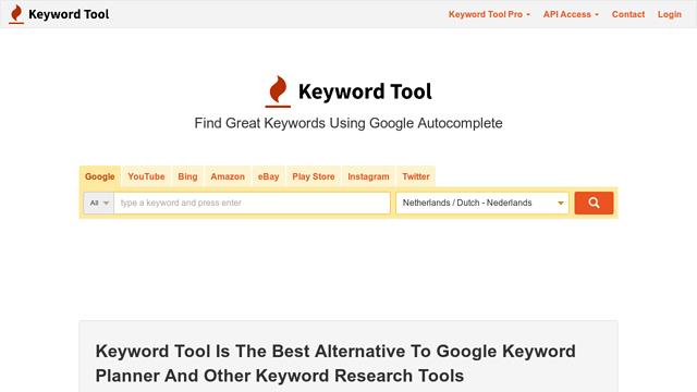 Keyword-Tool API koppeling
