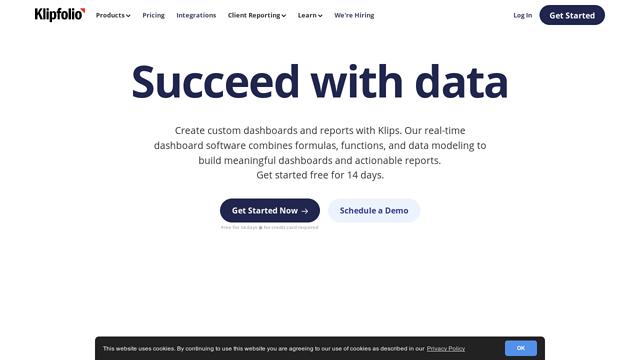 Klipfolio API koppeling