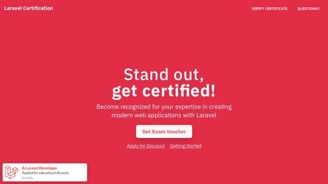 Laravel-Certification API koppeling