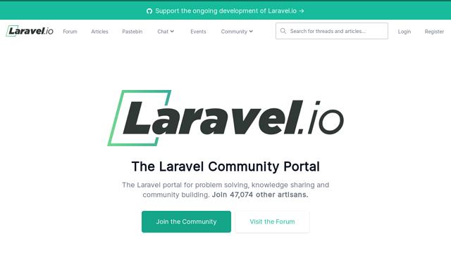 Laravel.io API koppeling