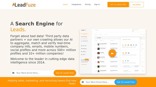 LeadFuze API koppeling