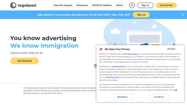 Legalpad API koppeling