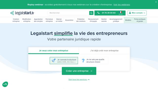 legalstart.fr API koppeling