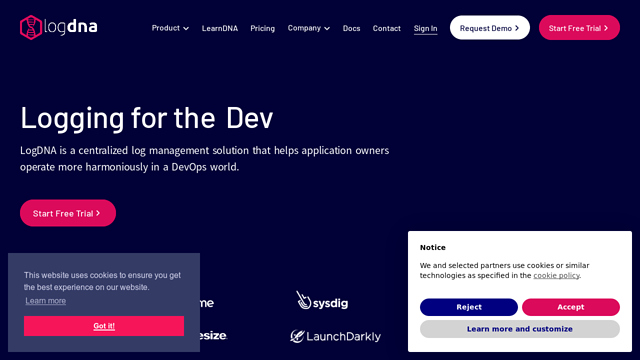 LogDNA API koppeling
