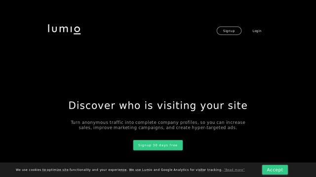 Lumio-Analytics API koppeling