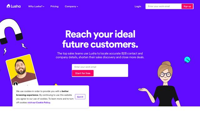Lusha API koppeling
