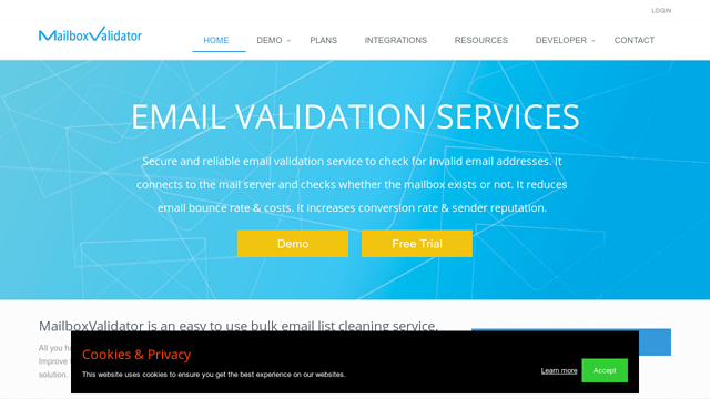 MailboxValidator API koppeling