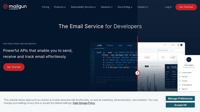 Mailgun API koppeling