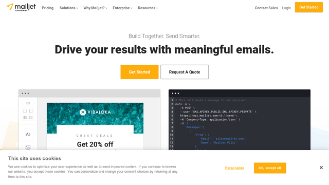 Mailjet API koppeling