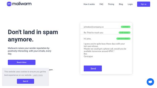 Mailwarm API koppeling