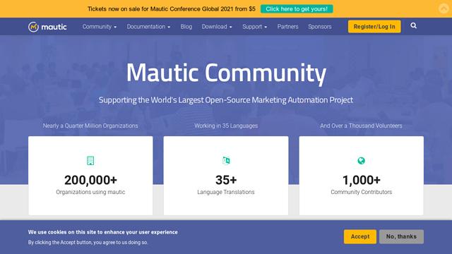 Mautic API koppeling