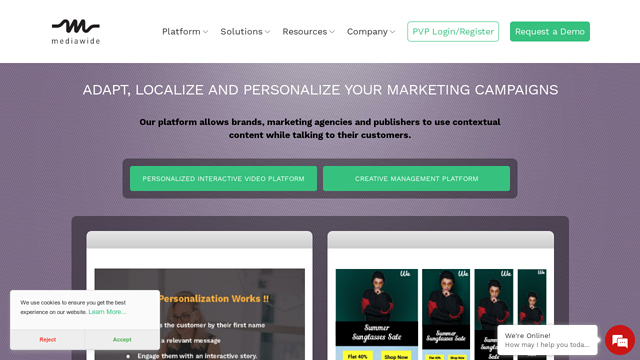 Mediawide API koppeling