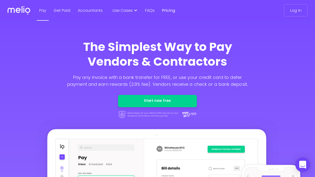 Melio-Payments API koppeling