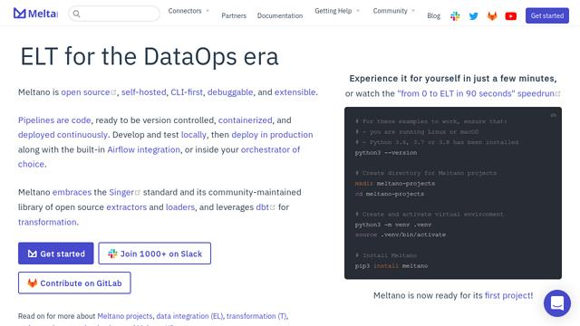 Meltano API koppeling