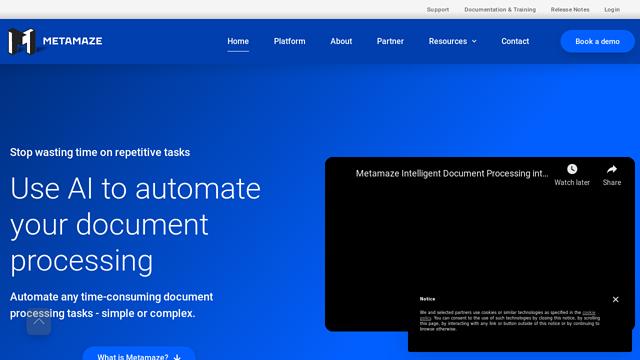Metamaze API koppeling