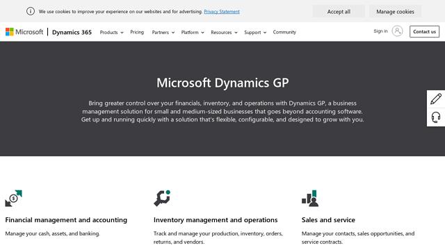 Microsoft-Dynamics-GP API koppeling