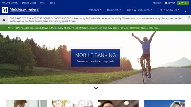 Middlesex-Federal-Savings API koppeling