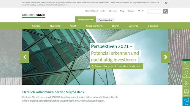 Migros-Bank API koppeling