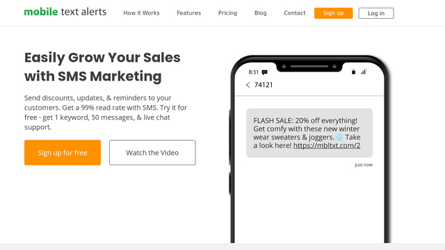Mobile-Text-Alerts API koppeling