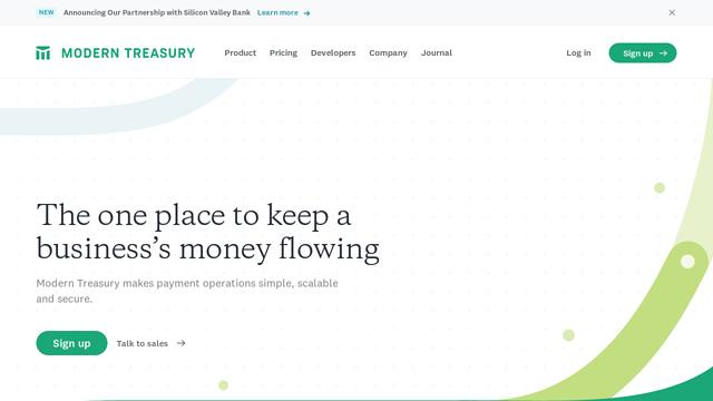 Modern-Treasury API koppeling