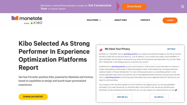 Monetate API koppeling