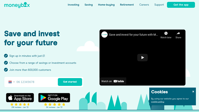 Moneybox API koppeling